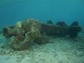 Anker bij duikplaats Tugboat